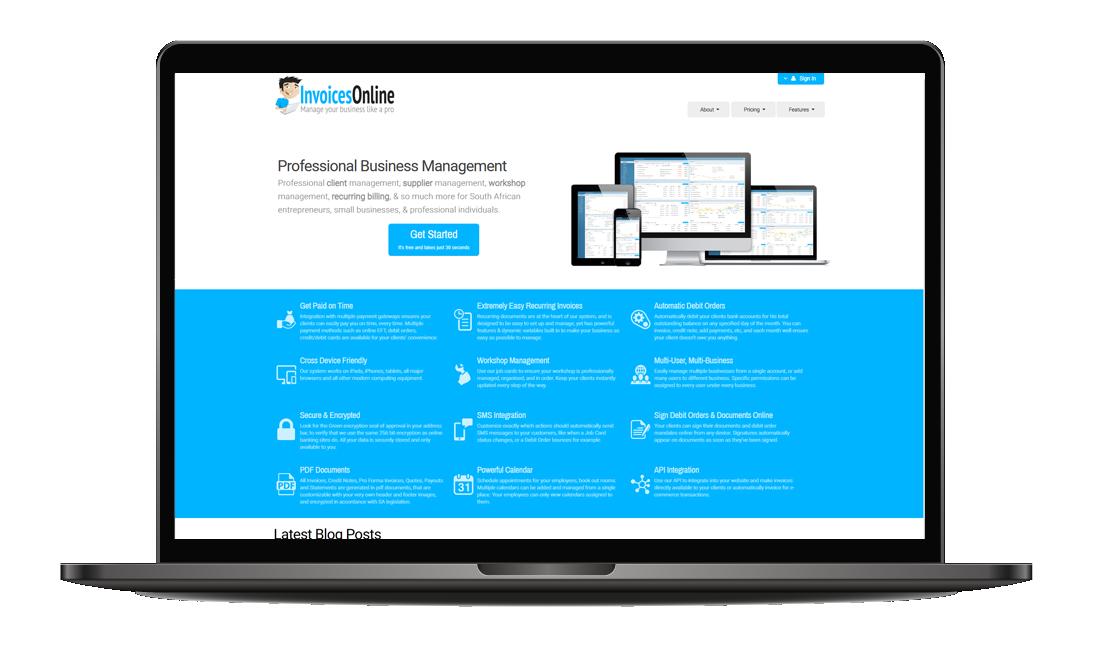 InvoicesOnline Professional business management