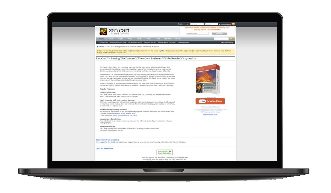 Zen Cart payment gateway online shop